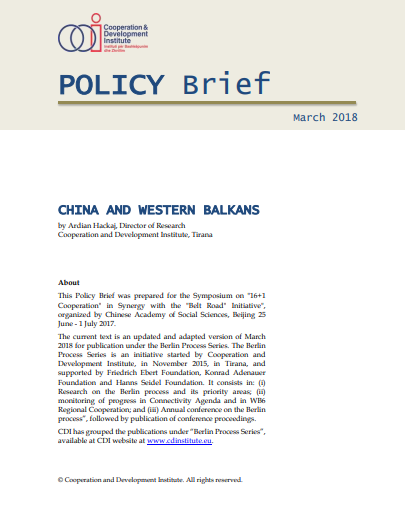 Connectivity, Transport, Economy, Western Balkans, China