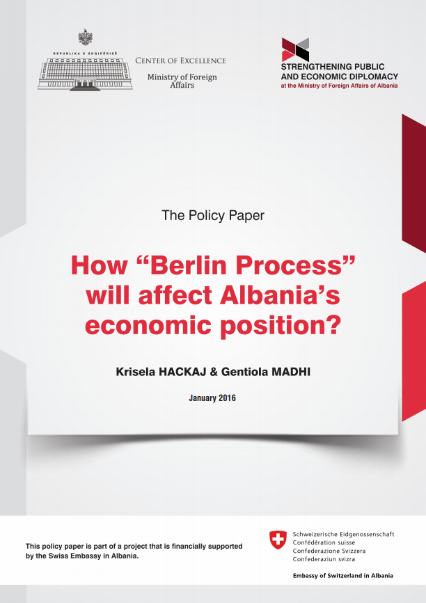 Berlin Process, Connectivity Agenda, Institutional Governance