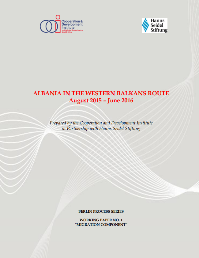 Albania in the Western Balkans route August 2015 – June 2016