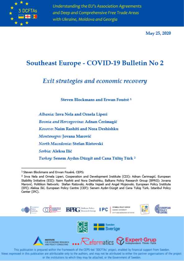 SOUTHEAST EUROPE COVID-19 BULLETIN NO 2: EXIT STRATEGIES AND ECONOMIC RECOVERY