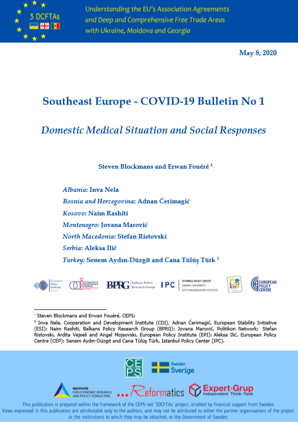SOUTHEAST EUROPE COVID-19 BULLETIN NO 1: DOMESTIC MEDICAL SITUATION AND SOCIAL RESPONSES