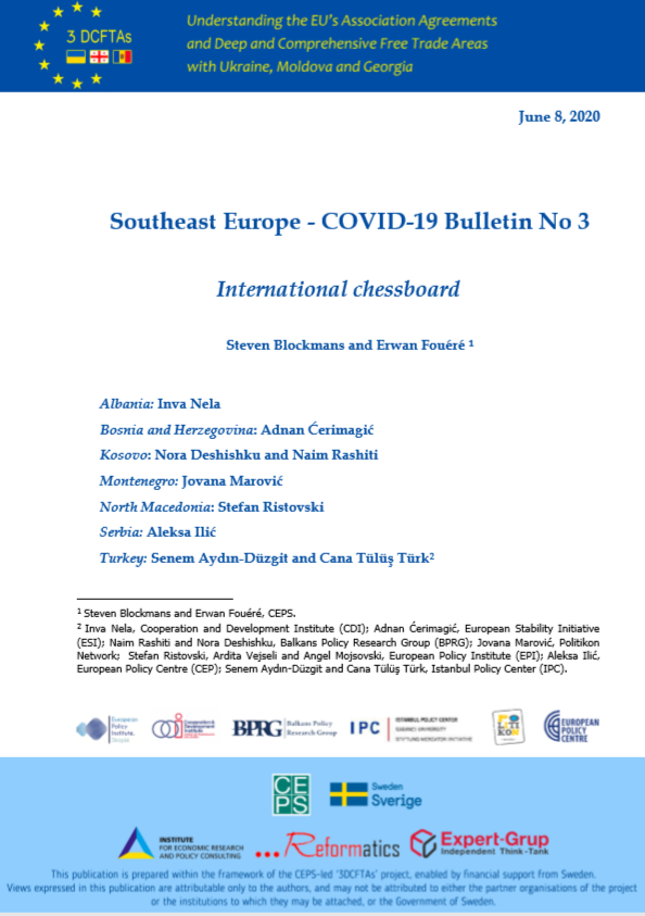 SOUTHEAST EUROPE COVID-19 BULLETIN NO 3:  INTERNATIONAL CHESSBOARD