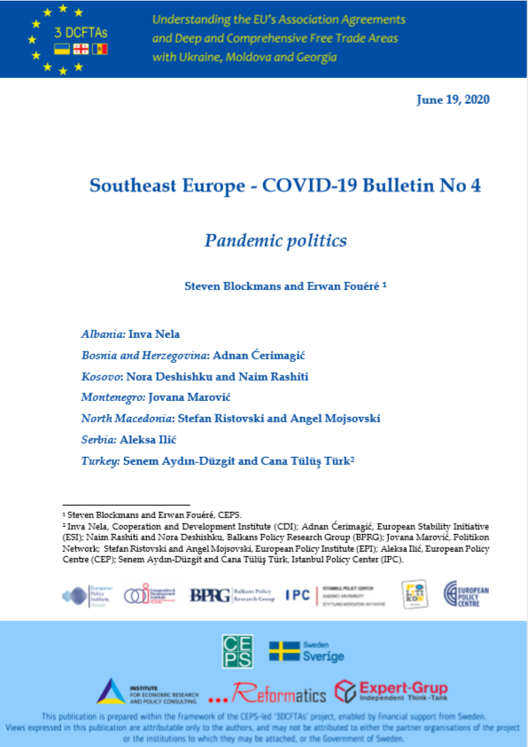 SOUTHEAST EUROPE COVID-19 BULLETIN NO 4: PANDEMIC POLITICS